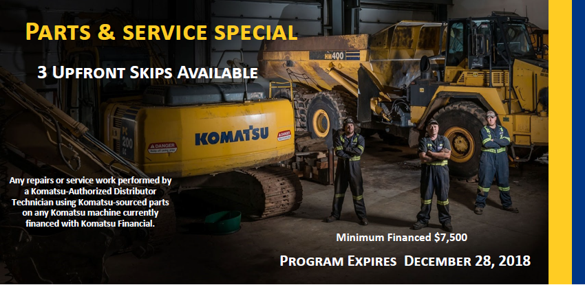Parts & Service Finance Special